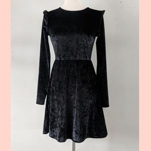 Velour NWT black mossimo dress xs, grunge